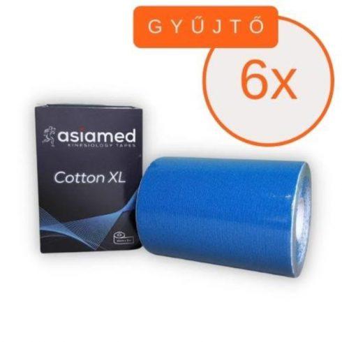 ASIAMED Kineziológiai Tapasz / Szalag 10 cm x 5 m Kék 6 DB/GYŰJTŐ