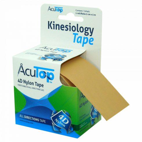 ACUTOP 4D Nylon Kineziológiai Szalag / Tapasz 5 cm x 5 m Bézs (minden irányban nyújtható)