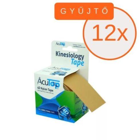 ACUTOP 4D Nylon Kineziológiai Szalag / Tapasz 5 cm x 5 m Bézs (minden irányban nyújtható) 6 DB/GYŰJTŐ