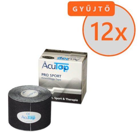 ACUTOP Pro Sport Kineziológiai Tapasz / Szalag 5 cm x 5 m Fekete 12 DB/GYŰJTŐ