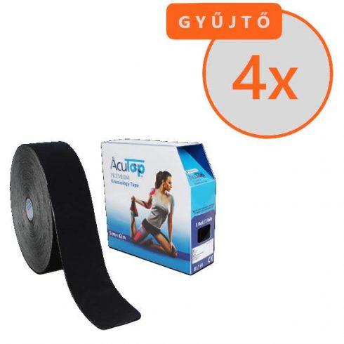 ACUTOP Premium Kineziológiai Szalag / Tapasz 5 cm x 32 m Fekete 4 DB/GYŰJTŐ