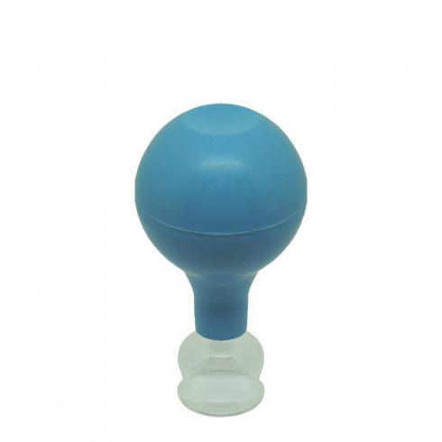 ÜVEGKÖPÖLY Gumilabda-pumpával 1,3 cm