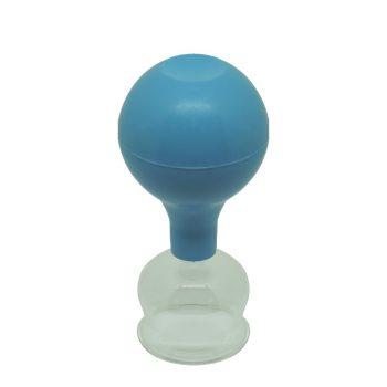 ÜVEGKÖPÖLY Gumilabda-pumpával 3,2 cm*
