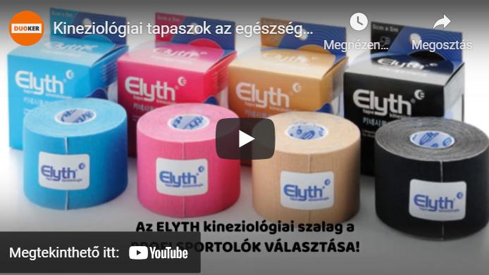 kineziológiai tapasz, fájdalomcsillapító tapasz youtube videó